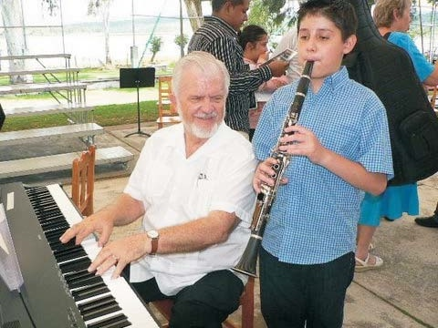 Phil and clarinet student